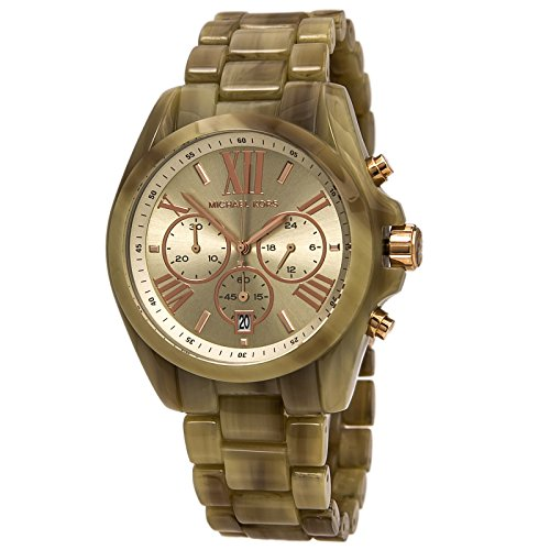 Michael Kors #MK5840 Women's Bradshaw Mid-Size Tortoise Acrylic Chrongraph (Michael Kors Acrylic Watch)
