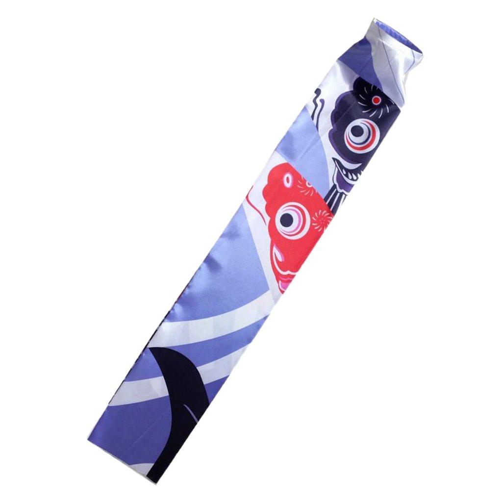 MagiDeal Japanisch Windsock Karpfen Flagge Koi Nobori Koinobori Hanging Flag Fächer Fisch Wind Streamer Dekoration - # 1, 70cm