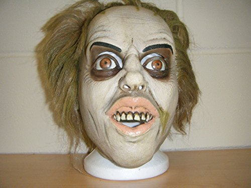 Beetlejuice Cape - WRESTLING MASKS UK Beatle Juice Beetlejuice Deluxe Latex Horror Halloween Head Hair Costume Mask