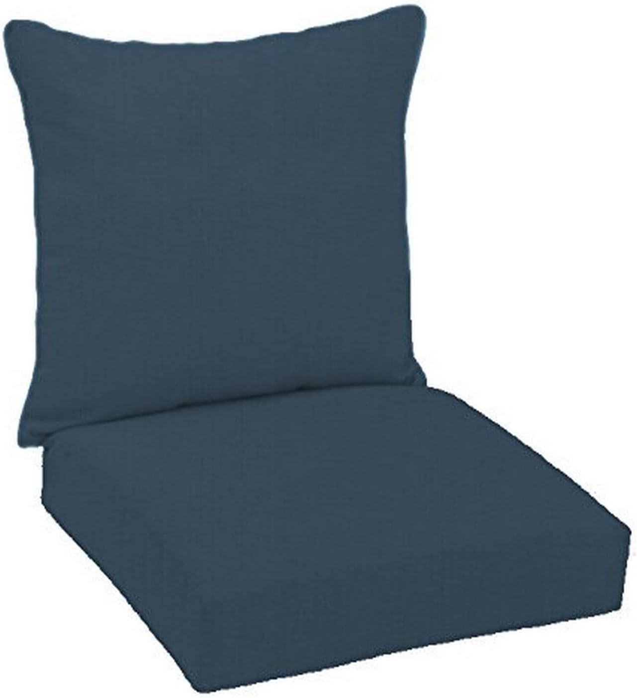 FiberBuilt Umbrellas D0301SB-48080 Hinged Deep Seating Chair Cushion Patio and Lawn Furniture with Sunbrella Fabric, Indigo : Garden & Outdoor