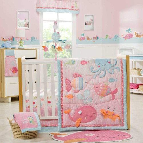 Under the Sea 4 Piece Baby Crib Bedding Set by Carters (Sea Collection) (Bedding Sets Carters Baby)