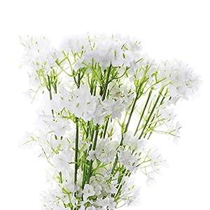 TiaoBug Baby Breath/Gypsophila Wedding Decoration White Colour Artificial Flowers,12 pieces 5