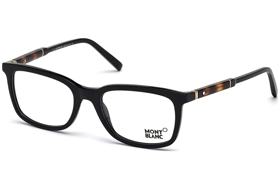 Amazon.com: Mont Blanc MB0638 Eyeglass Frames - Black Frame, 54 mm ...