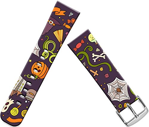 Bands Compatible with Iwatch 40mm/38mm Halloween & Cisland Leather Strap Compatible with Apple Watch Series 1/2/3/4 Sport & Edition Lovely Cute Halloween Hallowmas All Saints' Day Design Gift ()
