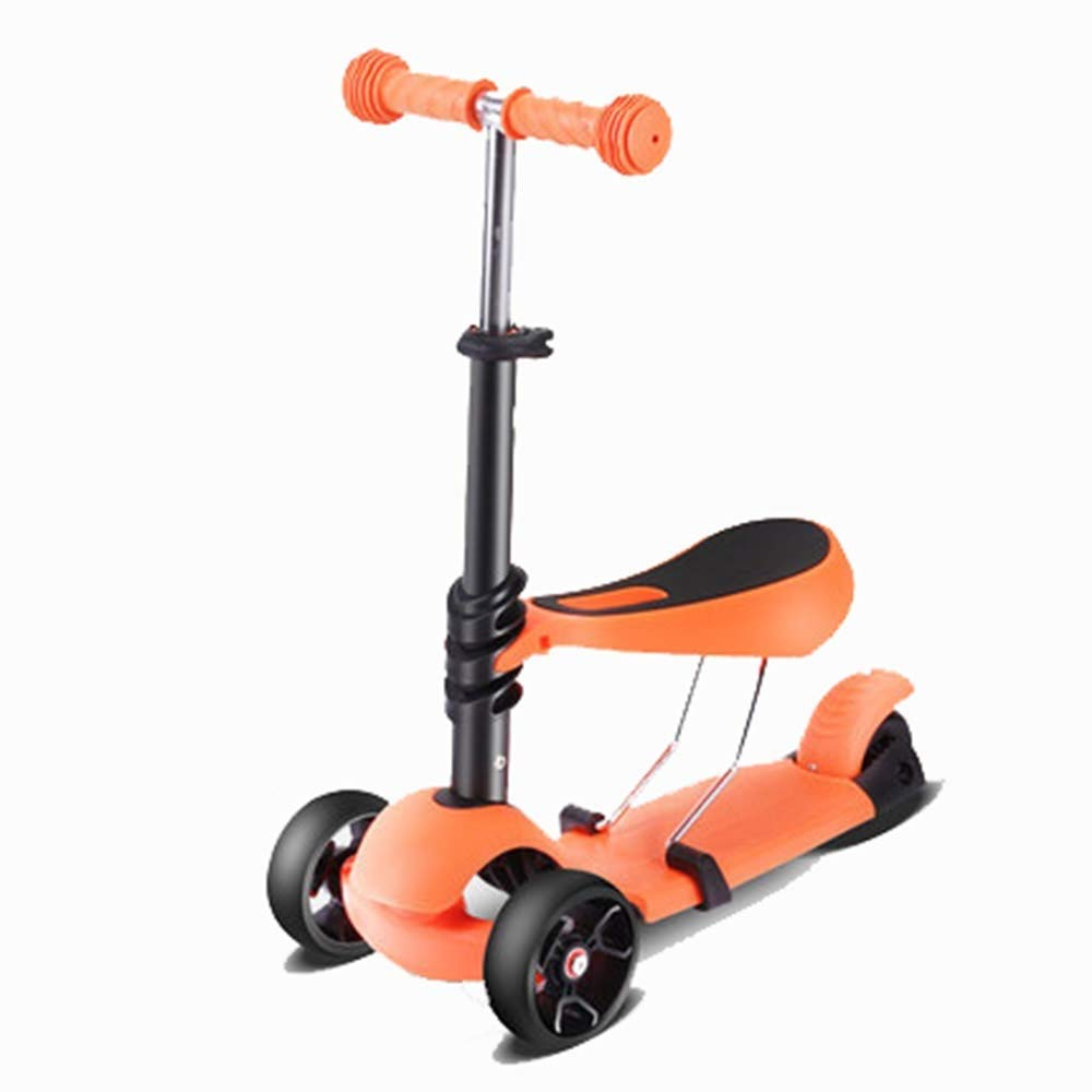 全国総量無料で スクーター幼児用スクーター スクーター子供3 B07R6HQL66 4ラウンド1-2-3-4-6歳女性の赤ちゃん初心者男性子供滑りやすい滑りやすい車 オレンジ) 子供用スクーター (色 : オレンジ) B07R6HQL66 (色 オレンジ, フットケアタイム:8c26e118 --- 4x4.lt