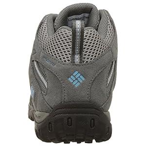 Columbia Women's Redmond Mid Waterproof Trail Shoe, Light Grey/Sky Blue, 10 M US