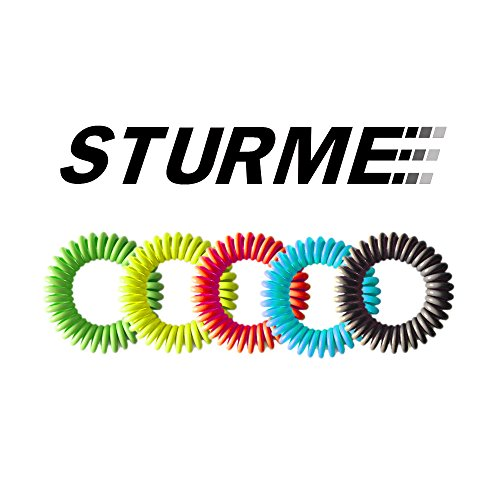 STURME 20 Pack Natural Mosquito Repellent Bracelets Waterproof Wristband wrist band Bug Insect Protection up to 300 Hours, No Deet, Pest Control for Kids Adults