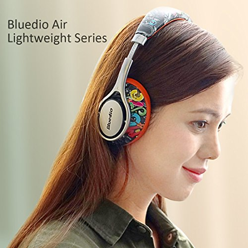 Bluedio A2 (Air) Lightweight Stylish Stereo Wireless Bluetooth Headphones with Mic (Doodle)