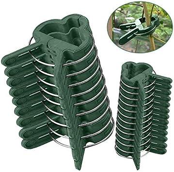 Clips para Plantas de jardín 60 pcs - Mopalwin flor clips ...