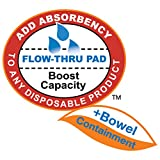 """Tranquility TopLiner® Disposable Absorbent Booster Contour Pads for Bowel Incontinence - Contour (21.5"""" x 13.5"""") 120 ct"""