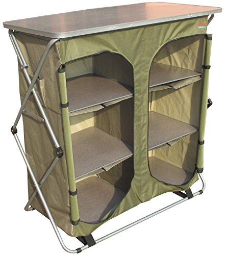 Bushtec Adventure Sierra Double Canvas Camp Cupboard, camping table or outfitter cupboard, table. by Bushtec Adventure