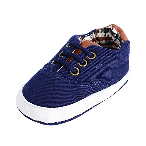 Weiyun Newborn Toddler Baby Infants Girl Boy Shoes Cute Soft Anti-Slip Canvas Shoes,Blue (Shoes Cute Girl Infant)