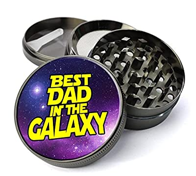 Extra Large Metal 5 Piece Spice Tobacco Herb Grinder with Pollen/Keef Catcher - Many Great Graphic Designs