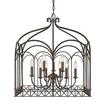Amazon.com: dorado iluminación 5815 – 9 Gateway estilo de 9 ...