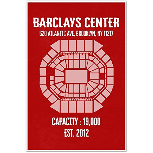 Barclays Center Wall Art Poster - Multiple Colors