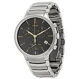 Rado Centrix XL Chronograph Grey Dial Stainless Steel Mens Watch R30122103