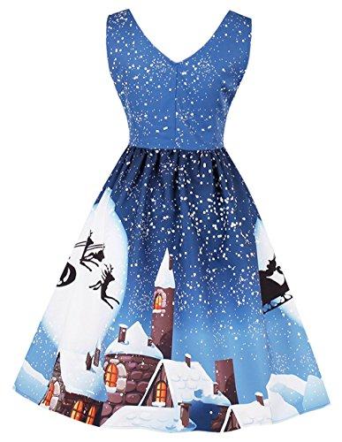 Bestfort Weihnachten Kleider Damen Vintage 50er Retro Mode ...
