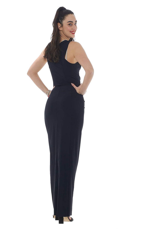 PATRIZIA PEPE Abito Lungo Donna in Tessuto Stretch-Nero-1  Amazon.it   Abbigliamento d3d848bfaa1