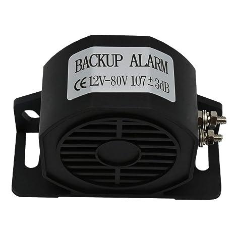 Amazon.com: MIRKOO Car Back-up Alarm, 107dB 12V-80V DC Waterproof Industrial Heavy-Duty Backup Reverse Warning Alarm with Super Loud Beeper Tone for Truck ...