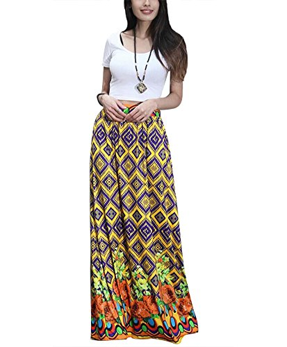 Aibearty-Women-S-XXL-Fashionable-Multicolored-Elastic-Print-High-Waist-Maxi-Skirts-Beach-Skirt-Long-Skirts-