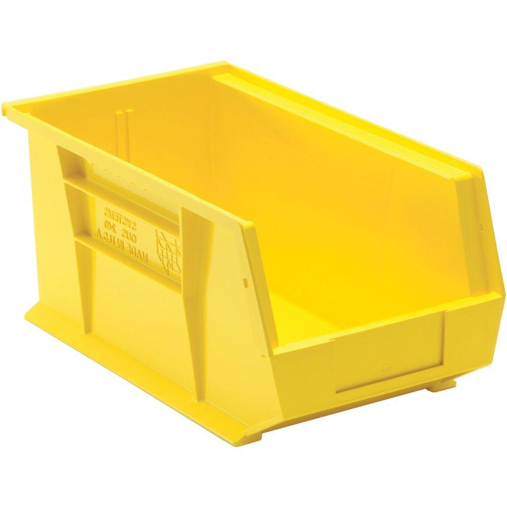 Edsal PB8504Y High Density Stackable Plastic Bin, 8'' Width x 7'' Height x 14'' Depth, Yellow (Pack of 12 )