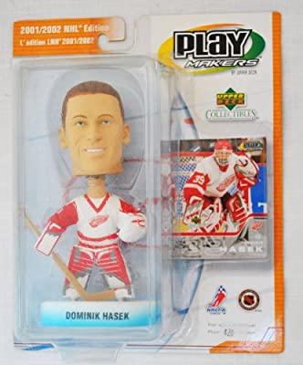 Detroit Red Wings rare Dominik Hasek #39 official NHL Upper Deck Playmakers Bobble card set Bobblehead