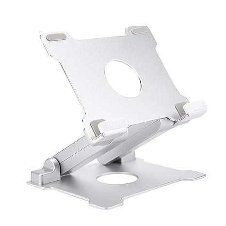 Garsent Soporte de Aluminio Universal portátil para Ordenador portátil o Tableta, Soporte de Escritorio Plegable