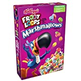 Froot Loops Breakfast Cereal with Fruity Shaped Marshmallows, Low Fat, 10.5 oz Box(Pack of 8)