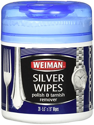Weiman Silver Wipes, 6 pack of 20 wipe contains - 120 wipe total