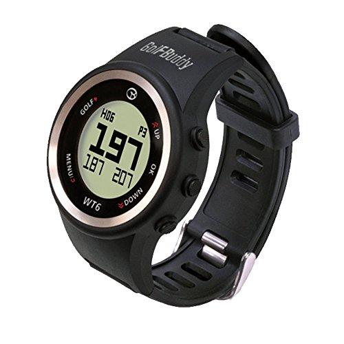 GolfBuddy WT6 Golf GPS Watch Black with Bonus Golf Buddy Microfiber Towel by GolfBuddy (Image #1)