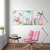 Slendima Fashion Flamingo Photo Frame Waterproof Wall Sticker, DIY Kids Room Bedroom Art Decal Creative Living Wall Decor