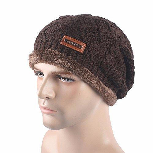 Nuevo hilo para otoño invierno sombreros hombre exterior y gorro de punto  de lana para mantener el calor en el otoño y el invierno sombreros a2feb5b33f4