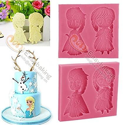 fondant silicone cake decorating molds frozen anna elsa christmas silicone mold baking tools for cakes soap