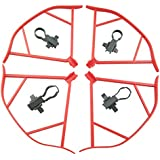 UUMART DJI Mavic Pro Quadcopter Drone Spare Parts Propeller Guard Set-Red