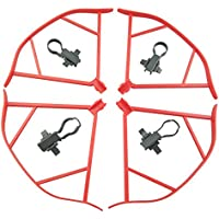 UUMART DJI Mavic Pro Quadcopter Drone Spare Parts Propeller Guard Set-Red