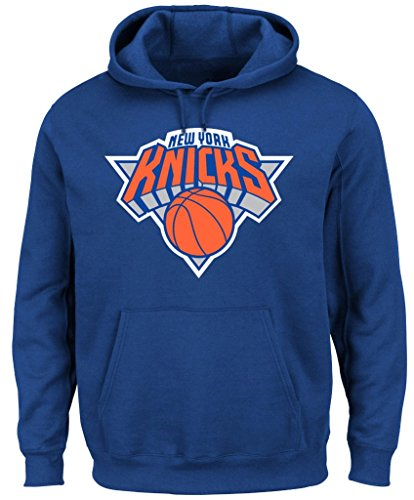 Hood Majestic Athletic (VF New York Knicks NBA Majestic Mens Big Logo Hoodie Royal Blue Big & Tall Sizes (5XL))