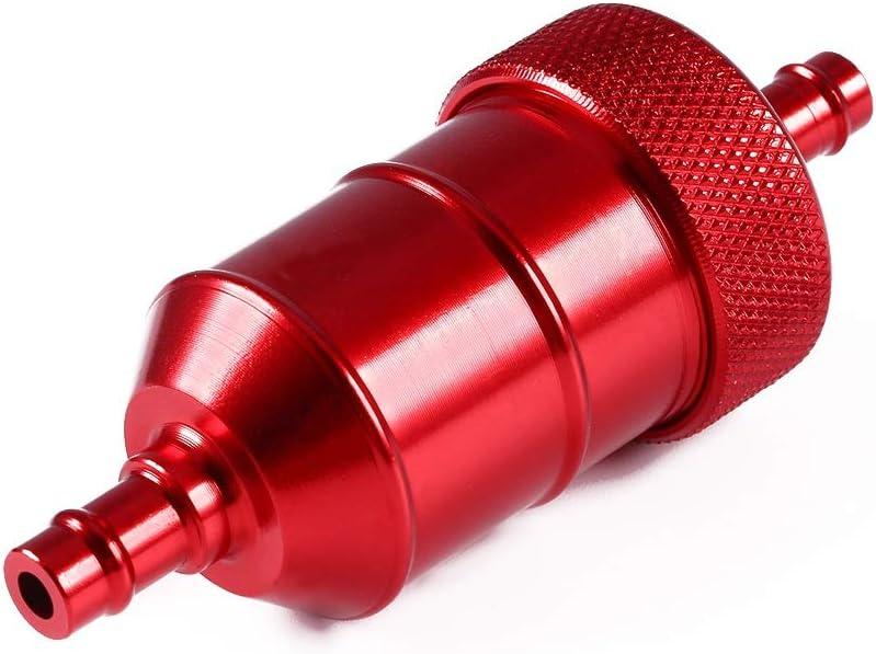 Filtre /à essence en ligne-Inline Gas Fuel Fuel Filter Gasonline Cleaner pour moto Pit Dirt 1//46mm Rouge