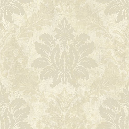 Mayflower Wallpaper Glitter Damask Nude Cream Gold Classic Victorian