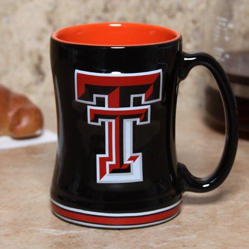 Boelter 15 oz. NCAA Texas Tech Red Raiders Black Ceramic Relief Mug