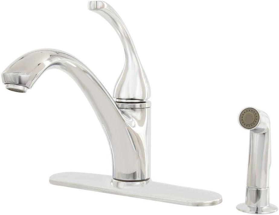 Kohler R10412 N Cp Forte 4 Hole Kitchen Sink Faucet Polished