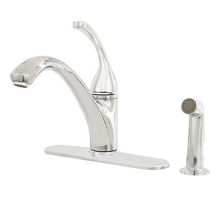 Kohler R10412 N Cp Forte 4 Hole Kitchen Sink Faucet Polished Chrome