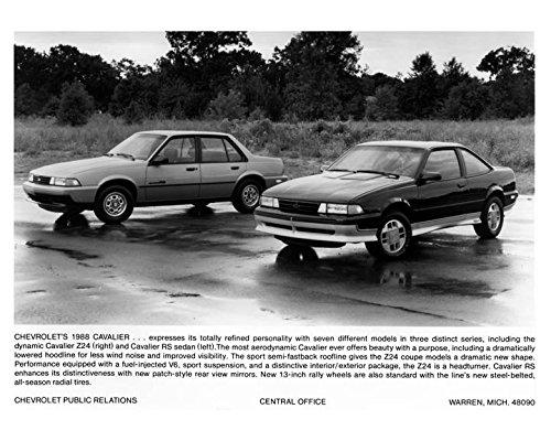 Cavalier Sedan - 1988 Chevrolet Cavalier Z24 and RS Sedan Automobile Photo Poster