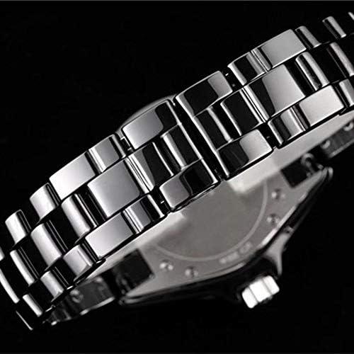Montres décontractées Hommes Femmes Céramique Quartz Dames Montre Blanc Noir Numéro Cadran Véritable Ceramica Montre-Bracelet Femmes 33mm