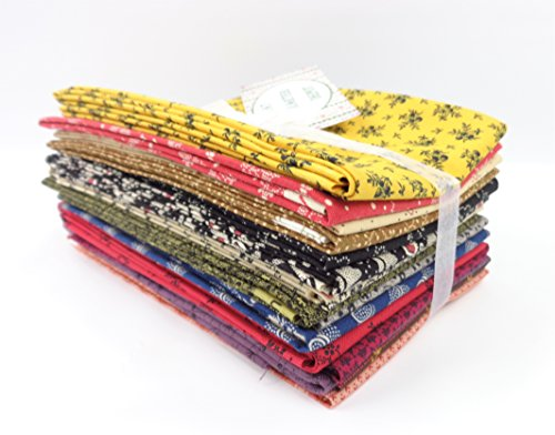 Fat Quarter Depot 15 Fat Quarter Bundle Civil War Reproduction Cotton Quilting Fabric
