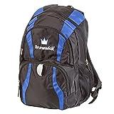 Brunswick Crown Backpack Bowling Bag, Black/Royal