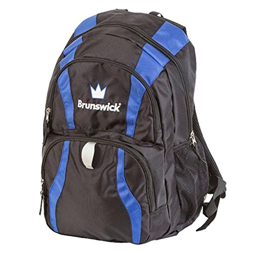 Brunswick Crown Backpack Bowling Bag, Black/Royal by Brunswick
