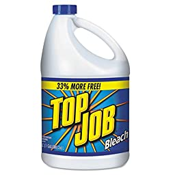 Top Job KIK 11007735044 Regular Bleach,  1 gal Bottle (Pack of 6)