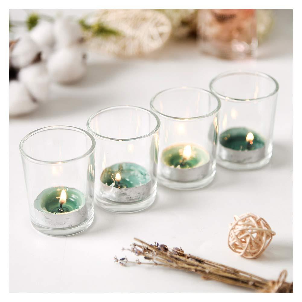 Supreme Lights Glass Votive Candle 12 Pack Tealight Holder Clear