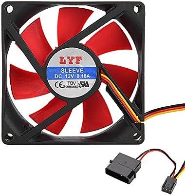 Tonysa 8cm 12V CPU Ventilador de Refrigeración/CPU Ventiladores ...