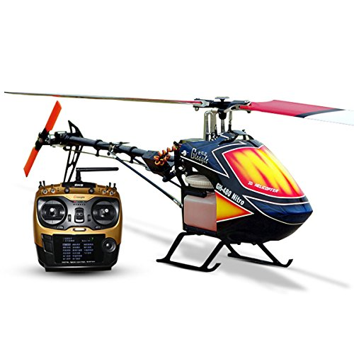 Global Eagle 480N Gleagle 480N 2.4Ghz 9CH DFC Fuel Oil Nitro RC Helicopter RTF (Rc Army Helicopter Large)
